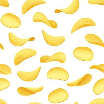 Aardappelchips naadloze patroon