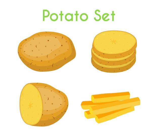 Aardappelen ingesteld
