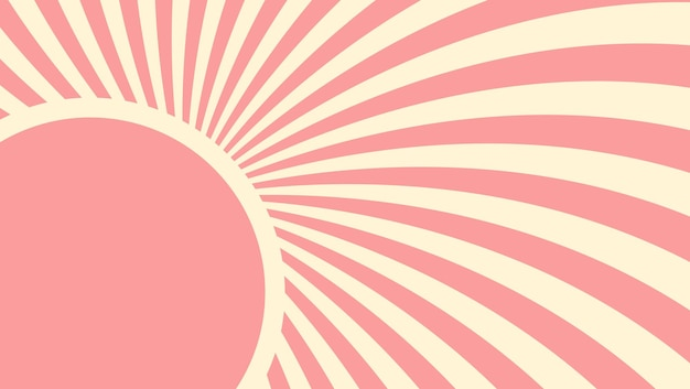 Aardbei, crème abstracte hypnotische achtergrond. vector illustratie