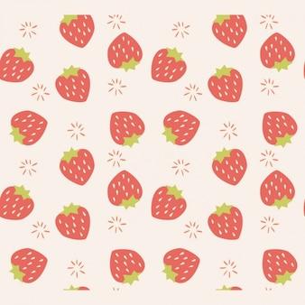 Aardbeien patroon ontwerp
