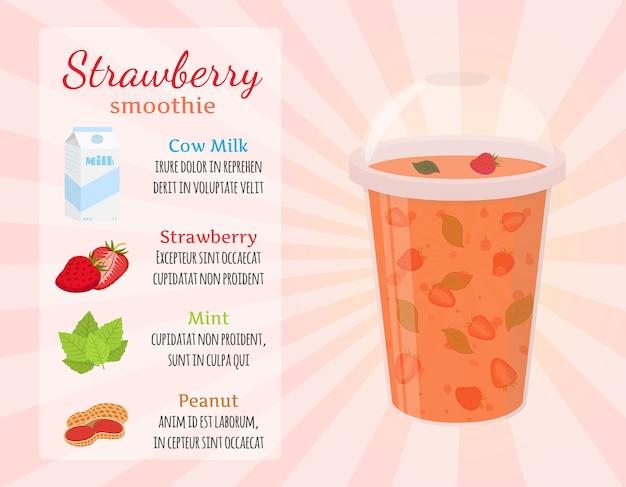 Aardbeien smoothie recept