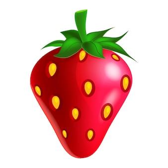 Aardbeienfruit geheel vers biologisch rood groen blad