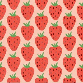Aardbeipatroon achtergrond social media post fruit vector illustration
