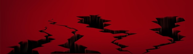 Aardbeving krakende gaten
