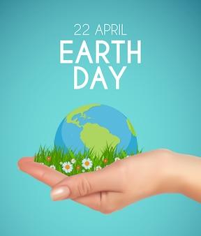 Aarde dag achtergrond april illustratie