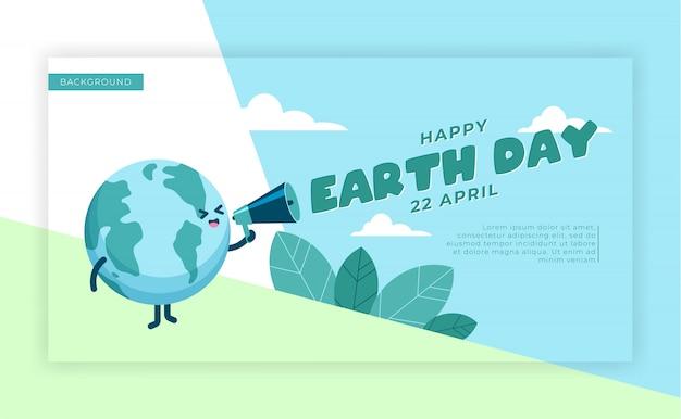 Aarde dag achtergrond banner