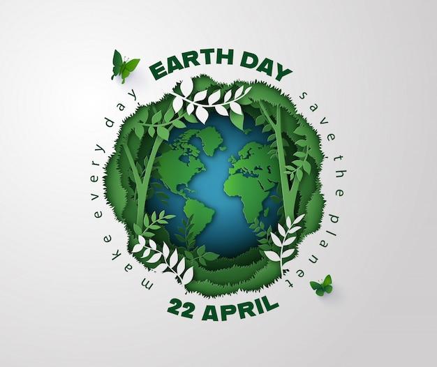 Aarde dag concept