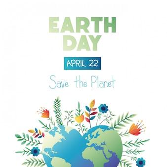 Aarde dag kaart