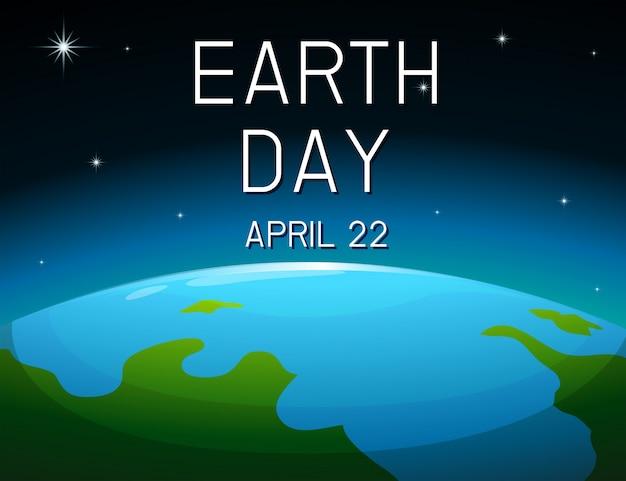 Aarde dag ruimteaffiche