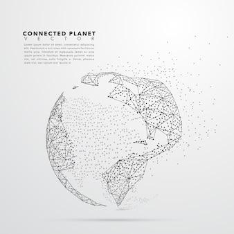 Aarde globe stippen ontwerp