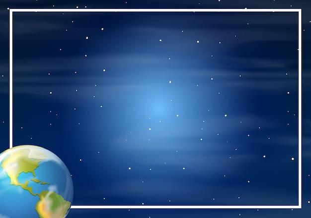 Aarde in de ruimte grens