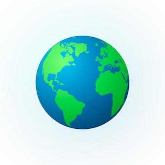Aarde in de vorm van een wereldbol