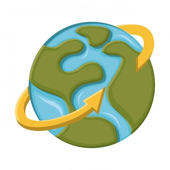 Aarde ontwerp over witte achtergrond vectorillustratie