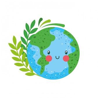 Aarde planeet karakter.