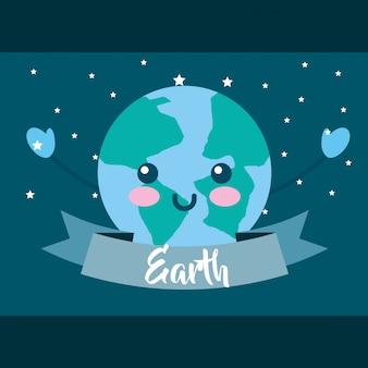 Aarde uur cartoon