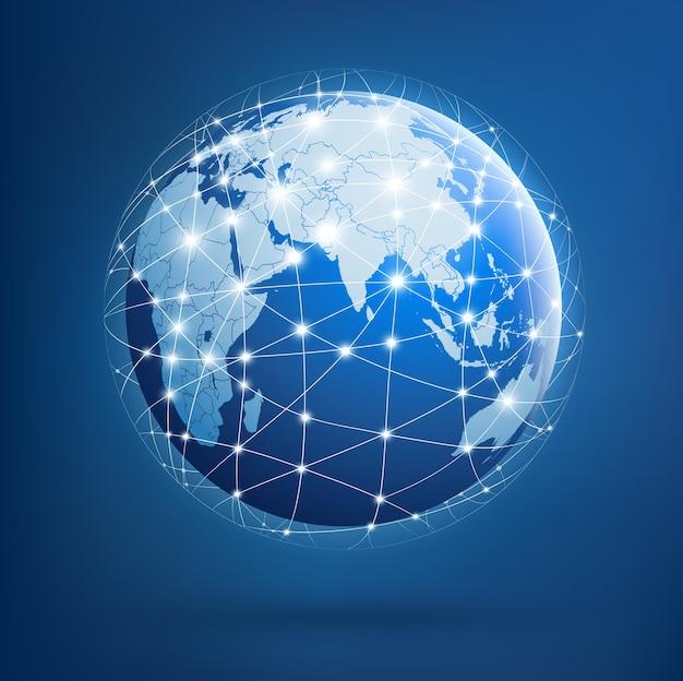 Aarde van wereldwijde netwerken