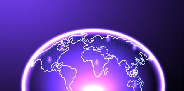 Aarde, wereldbol futuristisch ontwerp
