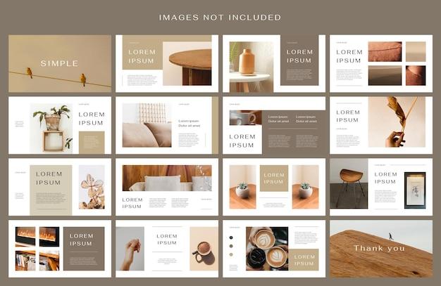 Aardetoon presentatie lay-out ontwerpsjabloon