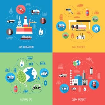 Aardgasindustrie concept