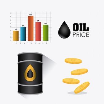 Aardolie- en olie-industrie infographic ontwerp