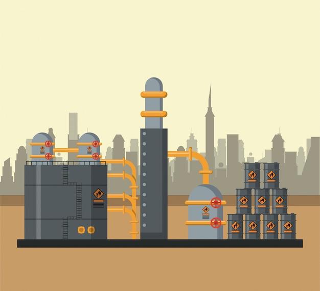 Aardolie-industrie concept