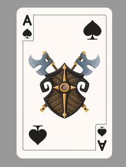 Aas van schoppen speelkaart