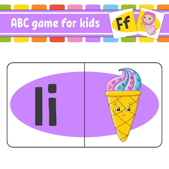 Abc-flitskaarten alfabet voor kinderen letters leren