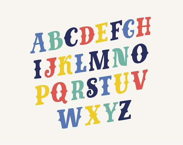 Abc lettertype illustratie