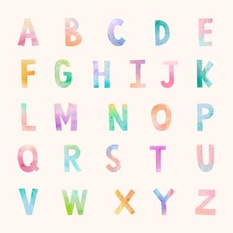 Abc lettertype instellen illustratie vector