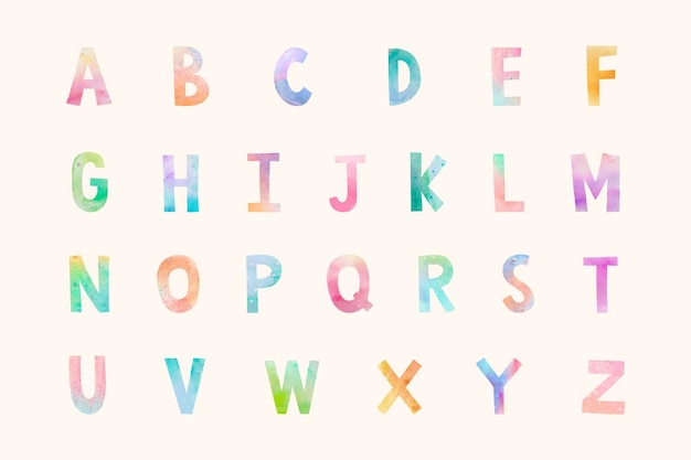 Abc lettertype set illustratie