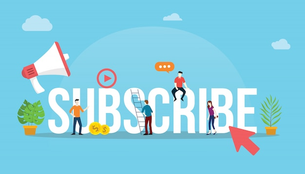 Abonneer kanaal sociale media video concept