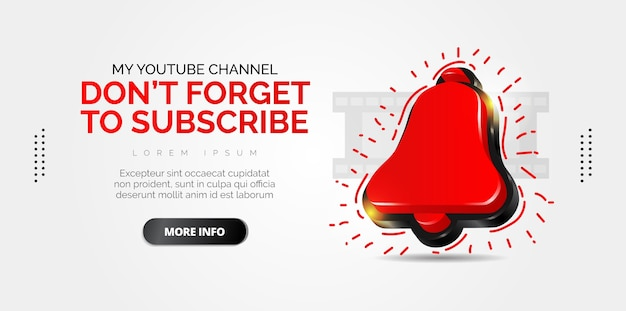Abonneer logo-ontwerp met witte achtergrond