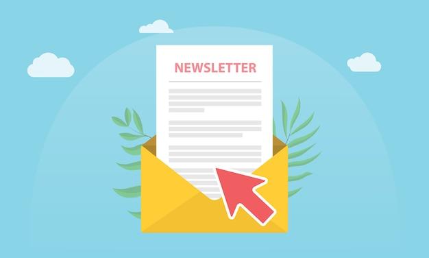 Abonneer nieuwsbrief concept