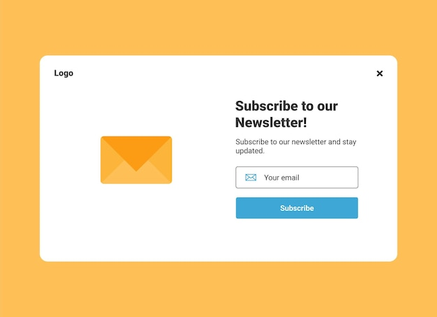 Abonnement op nieuwsbrief pop-up bannersjabloon