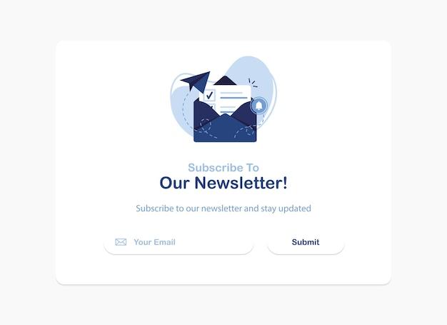 Abonnement op nieuwsbrief pop-up sjabloon voor spandoek