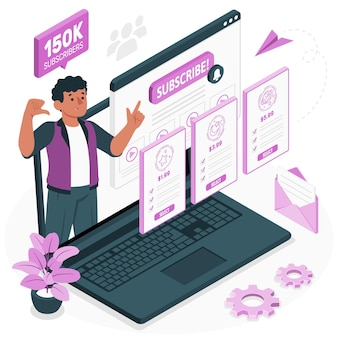 Abonnementen concept illustratie