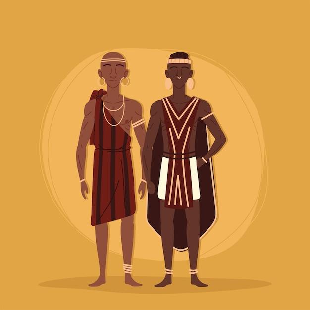 Aboriginals traditioneel van stam