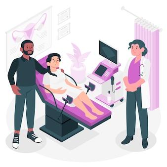Abortus concept illustratie