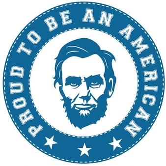 Abraham lincoln sticker amerikaanse trots