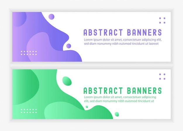 Absection liquid banners landsape