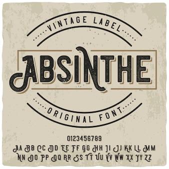Absint label lettertype