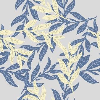 Absract naadloos patroon met bladeren takken