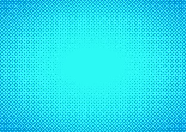 Abstack achtergrond cartoon stijl halftoon blauw kleurverloop.