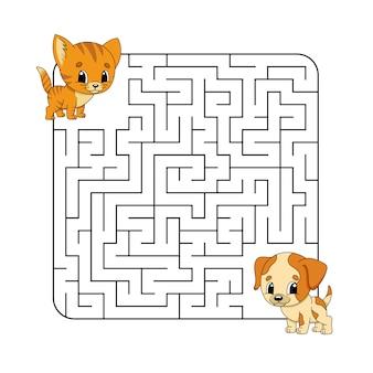 Abstact labyrint. spel voor kinderen. puzzel voor kinderen.
