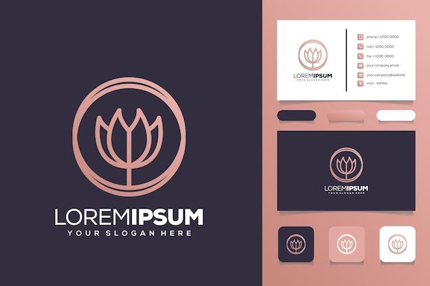 Abstact lotus logo ontwerp visitekaartje