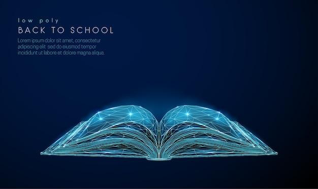 Abstact open boek