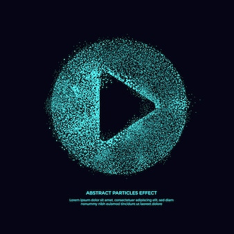 Abstarct deeltjes effect, glitter object