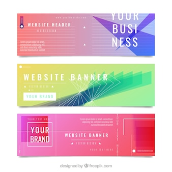 Abstrac banners collectie