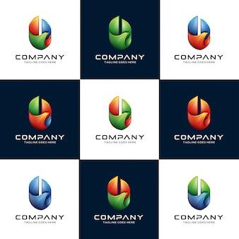 Abstract 3d-adelaar, havik, valk-logo