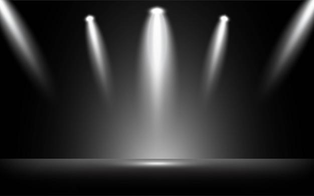 Abstract 3d zwart schijnwerperontwerp als achtergrond